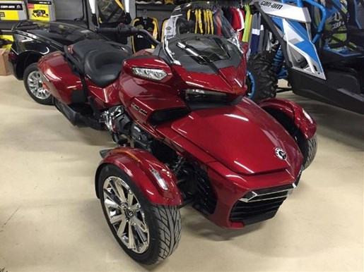 can am spyder f3 limited intense red pearl 2016 new motorcycle for sale in little rapids. Black Bedroom Furniture Sets. Home Design Ideas