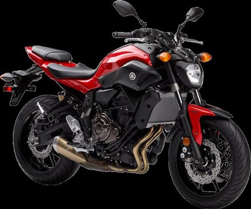 2017 Yamaha FZ-07 ABS Vivid Cocktail Red Photo 2 of 4