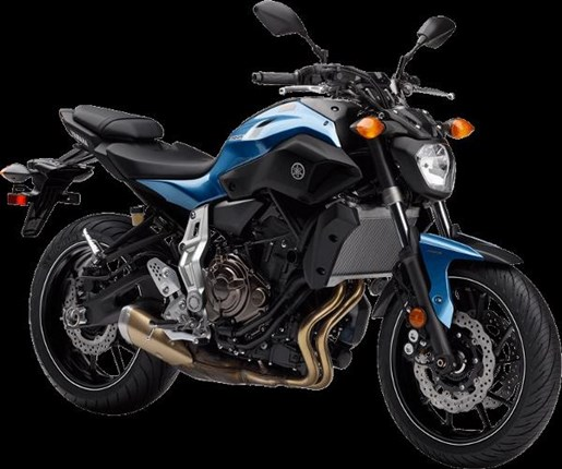 2017 Yamaha FZ-07 Pale Metallic Blue Photo 2 of 4