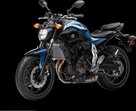 2017 Yamaha FZ-07 Pale Metallic Blue Photo 3 of 4