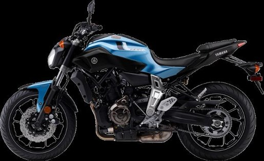 2017 Yamaha FZ-07 Pale Metallic Blue Photo 4 of 4