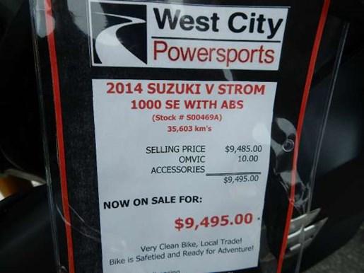 2014 Suzuki V-Strom 1000 ABS SE Photo 2 of 16