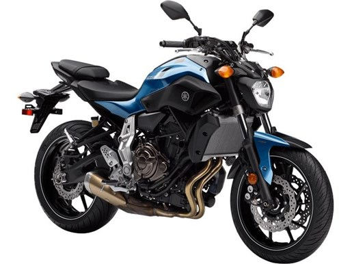 Yamaha fz 07 abs pale metallic blue 2017 new motorcycle for Yamaha fz 07 for sale
