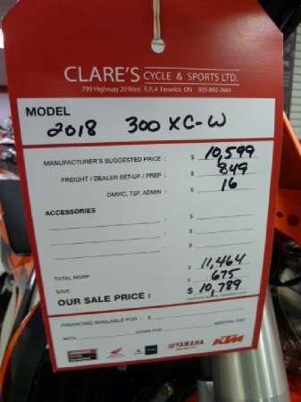 2018 KTM 300 XC-W Photo 4 of 4