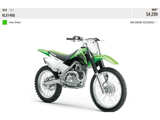 2018 Kawasaki KLX140G Photo 5 of 11