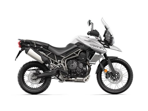 2018 Triumph Tiger 800 XCX Crystal White Photo 1 of 2