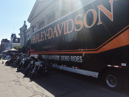 Ultimate Harley Demo Ride Trailer Kingston