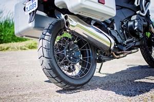 2017 Honda VFR1200X Review spoked wheel