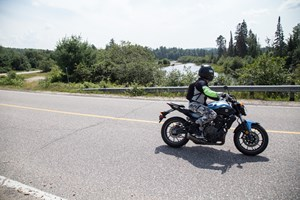 2017 Yamaha FZ-07 motorcycle Review ride the highlands ontario