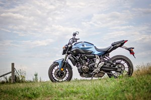 2017 Yamaha FZ-07 motorcycle Review side view