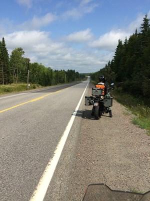 bmw f800 gsa motorcycle highway