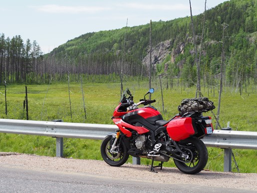 2017 BMW S 1000 XR Review on Algoma Loop countryside