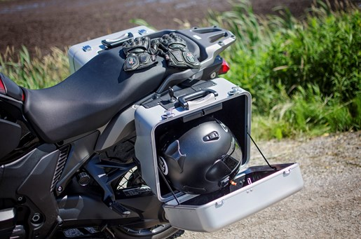 2017 Honda VFR1200X Review sidecases with room