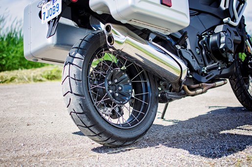 2017 Honda VFR1200X Review spoked wheel