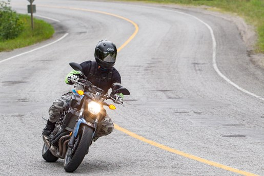 2017 Yamaha FZ-07 motorcycle Review more fun riding the highlands ontario