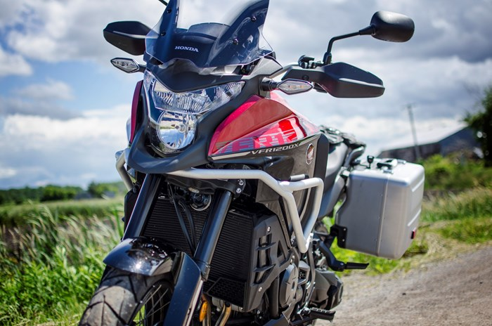 2017 Honda VFR1200X Review available in candy red