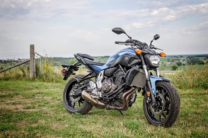 2017 Yamaha FZ-07 motorcycle Review low centre of gravity