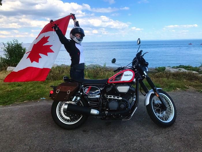 2017 Yamaha SCR950 Sport Heritage Review - JESSICA KLINE - CANADA DAY