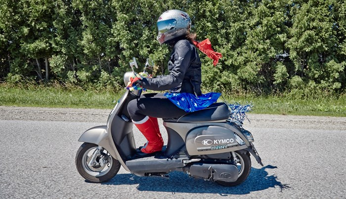 KYMCO compagno 110i scooter review mad bastard scooter rally