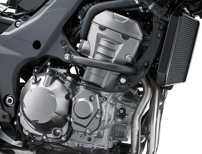 Kawasaki Versys 1000 review engine close up
