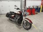 Victory Motorcycles® Cross Roads Classic® Burgundy & Khaki W/ Graphics 2013