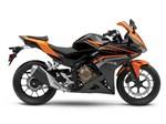 Honda CBR500R ABS Black / Candy Energy Orange 2017