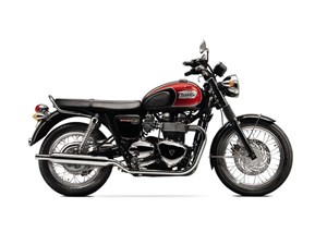 Triumph Bonneville T100 Jet Black / Cranberry Red 2016