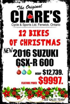 Suzuki GSX-R600 - Red 2016