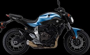 Yamaha FZ-07 ABS Pale Metallic Blue 2017