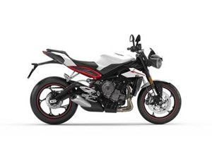 Triumph Street Triple R Crystal White Metallic 2018