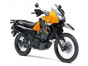Kawasaki KLR™650 Pearl Solar Yellow / Metallic Spark Black 2018