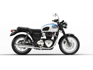 Triumph Bonneville T100 Fusion White and Aegean 2018