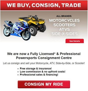 Honda Fully Licensed Powersports Consignment! 2018