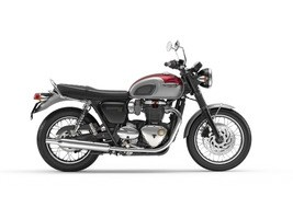 Triumph Bonneville T120 Cranberry Red and Aluminium Silver 2018