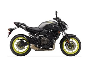Yamaha MT-07 Matte Metallic Gray 2018