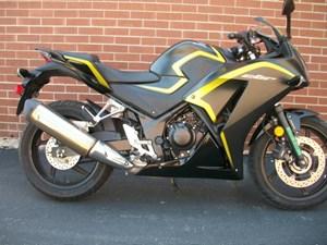 Honda CBR300R Matte Black Metallic Yellow 2015