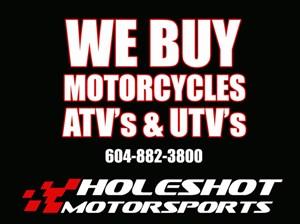 Triumph We Buy Used Motorcycles, ATVs & UTVs 2018