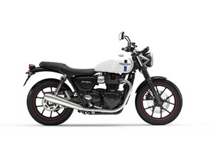Triumph Street Twin Crystal White 2018
