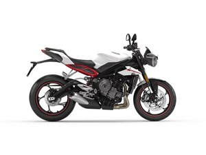 Triumph Street Triple R Crystal White Metallic Low 2018