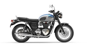 2019 Triumph Bonneville T120 Agean Blue and Fusion White