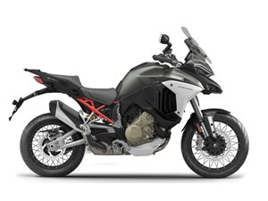 2021 Ducati Multistrada V4S Aviator Grey / Spoked Wh