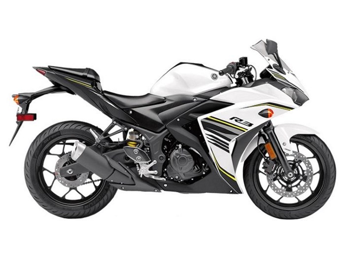 2017 Yamaha YZF-R3 ABS Metallic White Photo 1 of 1