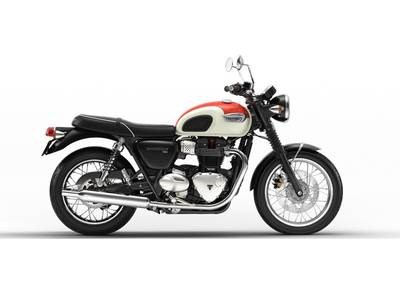 2018 Triumph Bonneville T100 New England White/ Inten Photo 1 sur 1