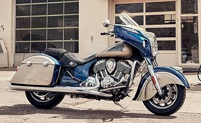 2019 INDIAN CHIEFTAIN CLASSIC DEEP WATER METALLIC DIRT TRACK T Photo 6 of 7