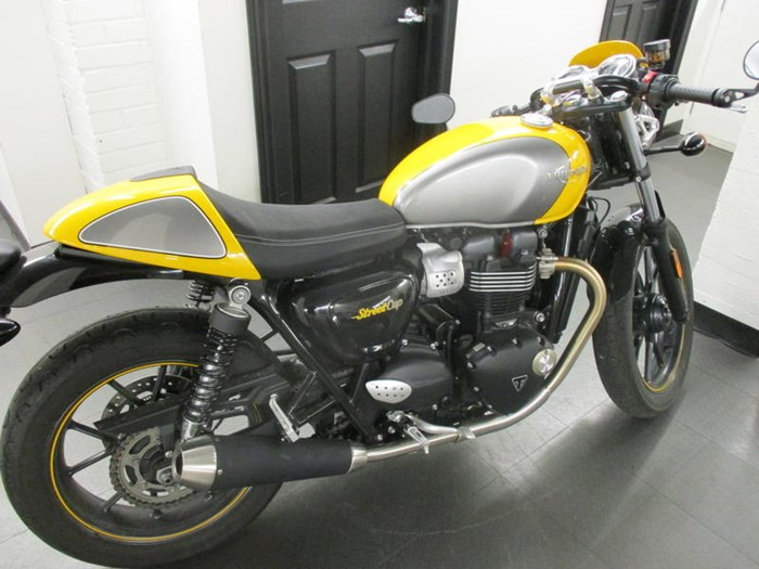 2017 Triumph Street Cup Racing Yellow/Silver Ice Photo 1 of 7
