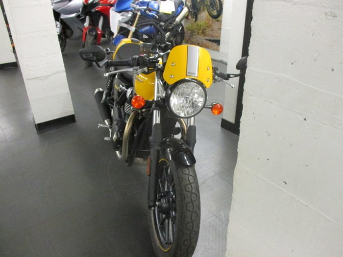 2017 Triumph Street Cup Racing Yellow/Silver Ice Photo 7 sur 7