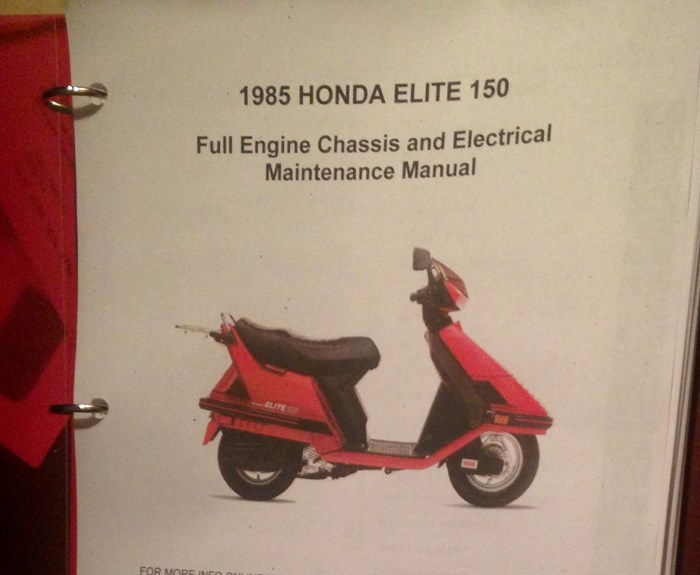 1985 Honda Elite CH150 Photo 7 of 7