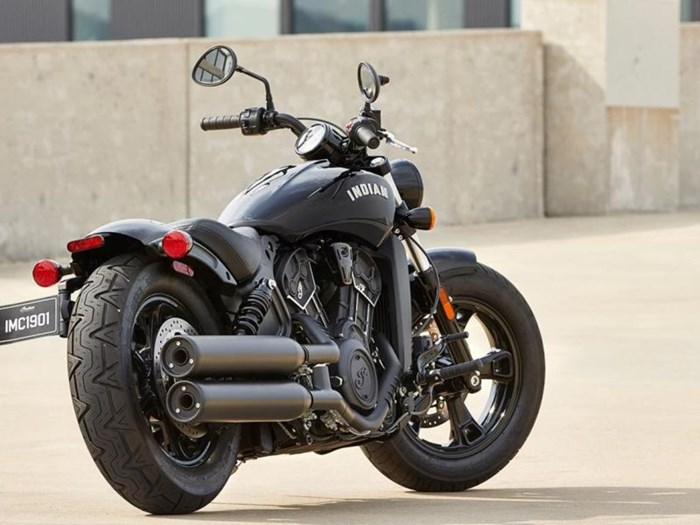 2021 Indian Motorcycle® Scout® Bobber Sixty Thunder Black Photo 2 of 5