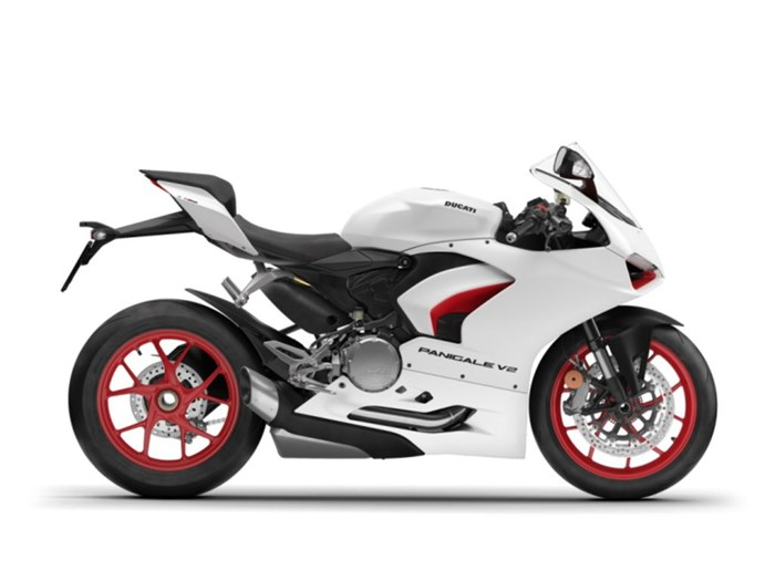 2021 Ducati Panigale V2 White Rosso Livery Photo 1 of 1