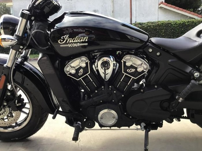2021 Indian Motorcycle® Scout® Thunder Black Photo 4 of 5